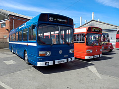 Leyland National Delight ! - Trent Barton 100 Year Anniversary. (Man of Yorkshire) Tags: blue red white bus mill buses nbc day open general stripe company national trent single poppy depot barton preserved 1970s standard langley midland leyland decker openday heanor