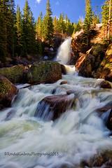 Alberta Falls - Rocky Mountain National Park (RondaKimbrow) Tags: nature landscape waterfall colorado hiking scenic estespark rockymountainnationalpark snowmelt albertafalls