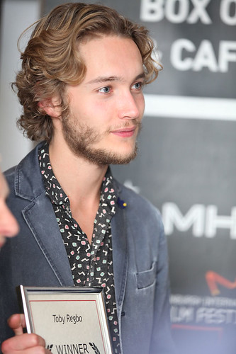 UWantMeToKillHim actor Toby Regbo outside the Filmhouse after the Awards ceremony