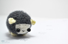 black sheep amigurumi (mohu mohu) Tags: black cute wool animal toy sheep handmade farm crafts crochet gray kawaii plushie amigurumi stiffed mohu mohustore