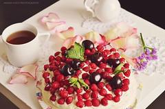 1 (Masha Iolis) Tags: flowers food cooking cup cake vintage photo berries tea sweet cream tasty retro sugar delicious foodporn teatime