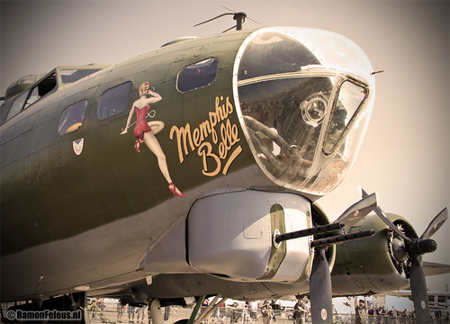 """Boeing B-17 Flying Fortress """"Sally B"""" a.k.a. """"Memphis Belle"""""""