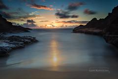 Eternity Cove Sunrise wm (MICHAEL A SANTOS) Tags: ocean sunrise hawaii oahu slowshutter reef eastside whit