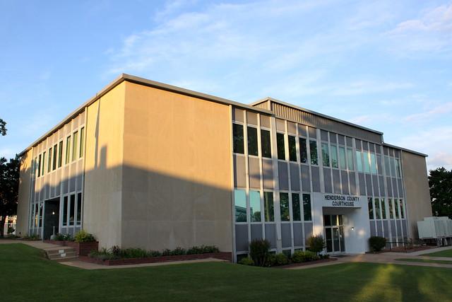 Henderson County Courthouse (corner view) - Lexington, TN