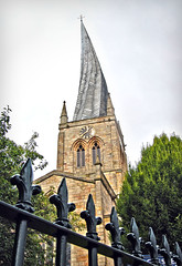 Chesterfield & The Twisted Spire (Jaynie25) Tags: trip church metal out day cross cathedral warp warped spire satan devil twisted chesterfield