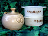 Mysteries (M.P.N.texan) Tags: glass ceramic handmade bowl pottery thriftstore bowls pyrex pyrorey