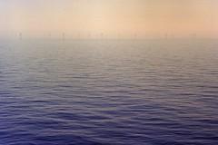 Generate Electricity  North Sea (Smadymenko) Tags: sea sky analog landscape energy power wind offshore northsea electricity analogue windfarm windpower c41 colorfilm leicamp 2013 kodakektar100 tetenalcolortec selfdevelopedc41 smadymenko