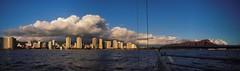 Visions of Hawaii (rengegirl) Tags: ocean sunset autostitch panorama hawaii