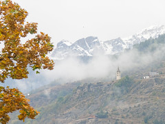 Day 6 (Keith Kingston) Tags: camping autumn mist fish snow france alps church caf youth forest trek walking de french tour funky trail backpacking parc decrins briancon 2013 gr54 loisans
