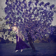 """encounters"" (nataschavn) Tags: purple longhair ethereal magictree conceptualportrait"