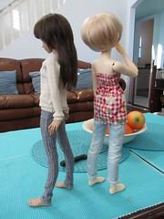 New girls (Milk and Bunny) Tags: ball doll tan bjd 13 fairyland msd juri jointed mnf 2013 minifee mirwen