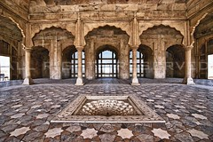 Diwan-e-Khas, Lahore Fort (z) Tags: city pakistan panorama architecture hall audience fort muslim special za quadrangle lahore oldcity shah walled lahorefort jahan mughal  diwanekhas widescape  variosonnart281635