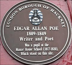 Poe, Edgar Allen Poe - Stoke Newington (Hornbeam Arts) Tags: hackney poe stokenewington plaques