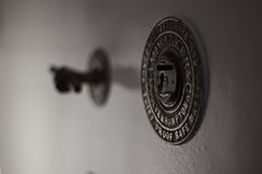 Safe (pigpogm) Tags: door wallpaper photos lock safe tiverton darkdrama mxpp independentcoffeetrader