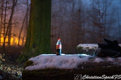 CocaCola on Ice (christian speck) Tags: trees light snow lightpainting fog night forest 35mm outdoors schweiz switzerland suisse sony lausanne arbres neige cocacola nuit foret lumieres sauvabelin rx1 brouyard