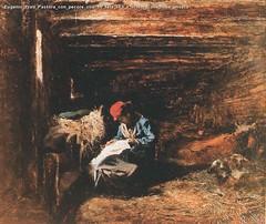 Eugenio Prati Pastora con pecore olio su tela 31,5 x 37 cm Collezione privata