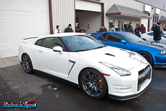 Nissan GTR R35 (Greg @ Lyle Pearson Auto Show) Tags: hello show snow car nissan kitty flush gtr stance toysfortots r35 hellaflush