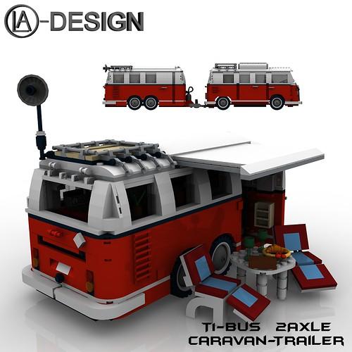 Lego 10220 T1 Bus Wohnwagen Camper Trailer 12 A Photo On