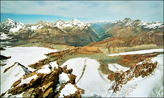 Autumn aquarelle (Katarina 2353) Tags: travel autumn light vacation sky panorama lake snow mountains alps film nature landscape photography schweiz switzerland photo nikon view suisse swiss paisaje glacier zermatt paysage katarinastefanovic katarina2353 gettylicense