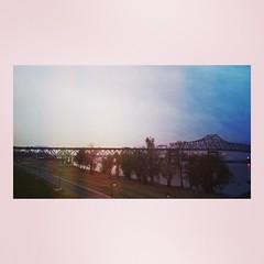 (Terin Talarico) Tags: bridge sunset mississippi louisiana batonrouge mississippiriver instagram flickrandroidapp:filter=none