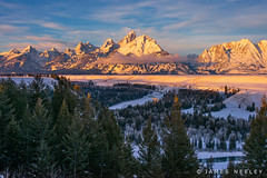 The Gift of a New Day (James Neeley) Tags: sunrise landscape grandtetons tetons winterlandscape grandtetonnationalpark gtnp snakeriveroverlook jamesneeley
