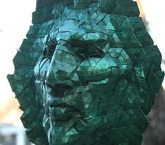 goliath 2 (origami joel) Tags: face paper origami mask joel cooper tessellation origamijoel