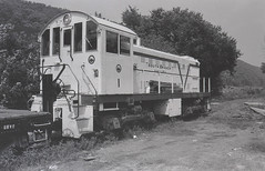 South BranchValley, September 1979 (mosbysraid) Tags: railroad bw westvirginia oldtrains southbranch sbvr