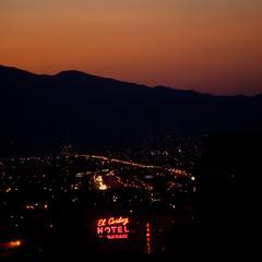 It Ain't True That The Sun Don't Rise in Vegas (Thomas Hawk) Tags: vegas usa hotel neon unitedstates lasvegas nevada unitedstatesofamerica surise clarkcounty fav10 fav25 elcortezhotel