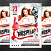 Hospital party flyer, PSD Template
