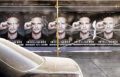 (rappensuncle) Tags: street car nobody billboard sidewalk scaffold westhollywood advertizement rappensuncle