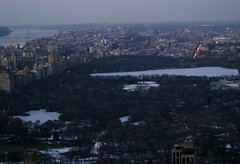 Central Park (MJ_100) Tags: park city nyc sunset usa snow newyork skyline america us
