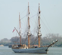 Kaskelot (1) @ Gallions Reach 29-03-14 (AJBC_1) Tags: uk england london boat ship unitedkingdom vessel tallship riverthames sailingship eastlondon gallionsreach northwoolwich newham ajc dlrblog ajc