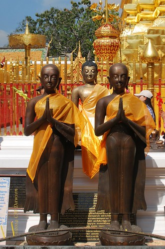 Sculpted Monks of Wat Phrathat Doi Suthep