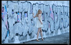 nEO_IMG_DP1U1598 (c0466art) Tags: portrait motion art beauty pose bride pretty outdoor ruin blond attractive cloth charming elegant russian yuna goegeous