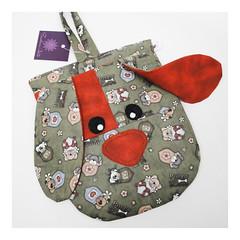 lixeira para carro - cachorrinho (FashionArts) Tags: de para carro em bichinhos tecido lixeira lixinho