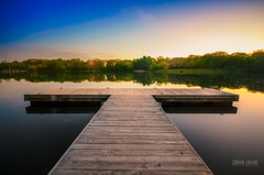 The Lake Harbor (Zouhair Lhaloui) Tags: sky lake nature water beauty forest landscape photography harbor illinois midwest scenery fineart aurora goldenhour 2014 lakeharbor sigma1020f4 nikond7000 zlphotography zouhairlhaloui