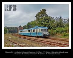 Ligne ferroviaire de Savenay (44)  Landerneau (29), section de Chteaulin  Dirinon (LOUIS TOSSER) Tags: france train de gare bretagne rails chemin fer sncf finistre autorail cfcb