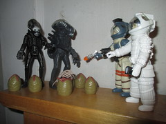 Alien Egg Pods and Ripley - Aliens 2150 (Brechtbug) Tags: alien egg pods ripley aliens scifi science fiction tv television show creature monster action figure toy toys space galaxy universe funko prometheus engineer figures series 1 ridley scott film movie xenomorphs like 2017 reaction original super7 retro active kenner type kane designed canceled for 1979 face hugger chest burster xenomorph facehugger chestburster helmet