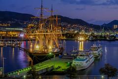 長崎港の夕景