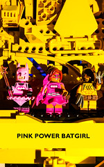 Lego Batman Minifigs: Pink Power Batgirl (Jolphin) Tags: lego batman minifig minifigures minifigs movie pink power batgirl fairy catman