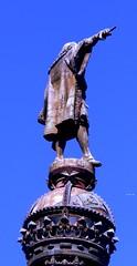 Barcellona 12/03/2013: Detail of the monument to Christopher Columbus  /  Dettaglio del monumento a Cristoforo Colombo (paolocannas) Tags: barcellona catalogna spagna monumento cristoforo colombo