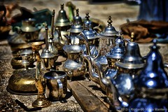 Tea sets (Riccardo Maria Mantero) Tags: africa travel stilllife abstract tourism outdoors northafrica fineart tools morocco national fez marocco medina teapots turismo viaggio geographic fes shimmering shimmer lifestyles viaggiare teiere afszoomnikkor2470mmf28ged