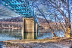Under the Rte 15 Bridge (podolux) Tags: bridge nikon bridges potomac nikkor potomacriver postprocessing photomatix pointofrocks tonemapped tonemap d80 nikond80 us15bridge photomatixformac