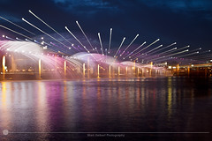 Banpo Bridge (MarkDeibertPhotography) Tags: water fountain night lights zoom korea seoul southkorea hanriver banpobridge