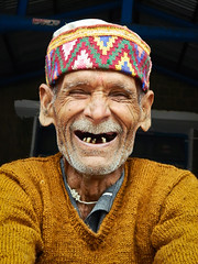 Himachali (Sougata2013) Tags: old portrait people india cute smile emotion indian expressions smiley laugh oldage himachal himachalpradesh himachali