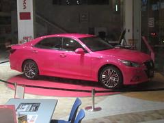 a pink Toyota Crown! (electrofreeze) Tags: pink cars car japan magenta fuschia vehicles toyota crown nagasaki kyushu