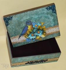 Caixa passaro azul decoupage 3D (Atelier Mundo Country - Tays Rocha) Tags: vintage workshops aulas cursos truecolors scrapdecor