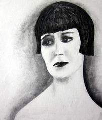 "Louise Brooks charcoal • <a style=""font-size:0.8em;"" href=""https://www.flickr.com/photos/78624443@N00/9758475214/"" target=""_blank"">View on Flickr</a>"