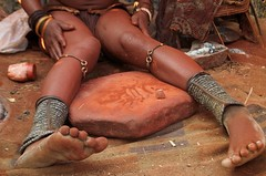 2013-08-28 at 17-02-12 (Namibia Endless Horizon) Tags: red locals village culture tribe ochre himba namibianamibia otjize