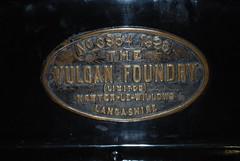 Vulcan Foundary Worksplate (hugh llewelyn) Tags: vulcan severnvalleyrailway foundary worksplate highleymuseum